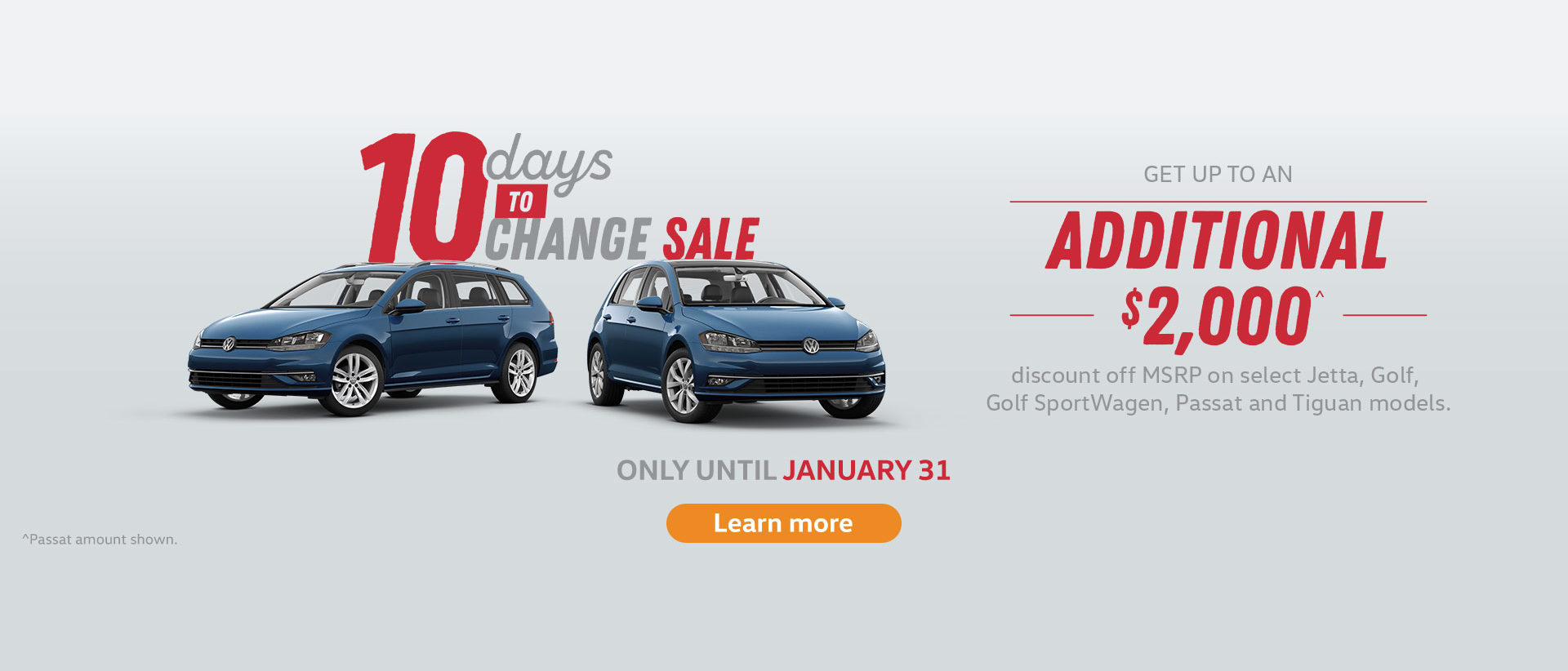 Volkswagen 10 Day Offer Slide